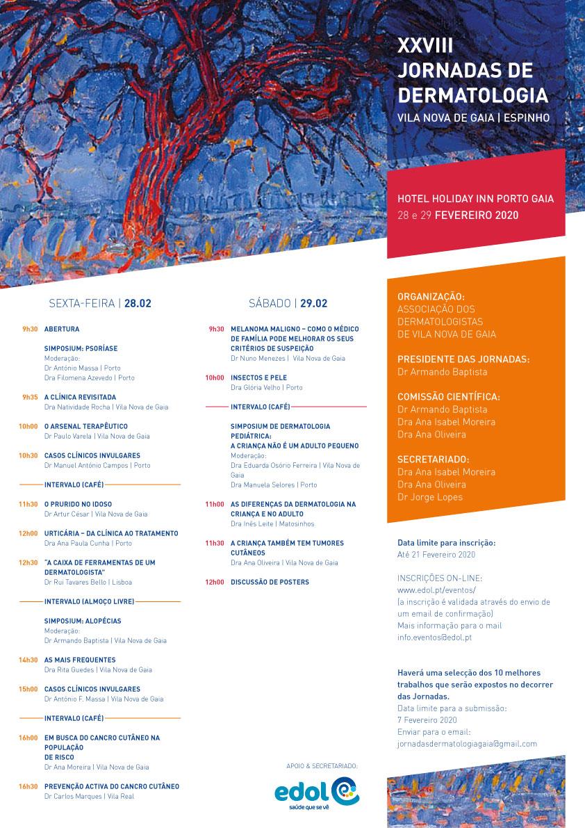 Programa XXVIII Jornadas de Dermatologia
